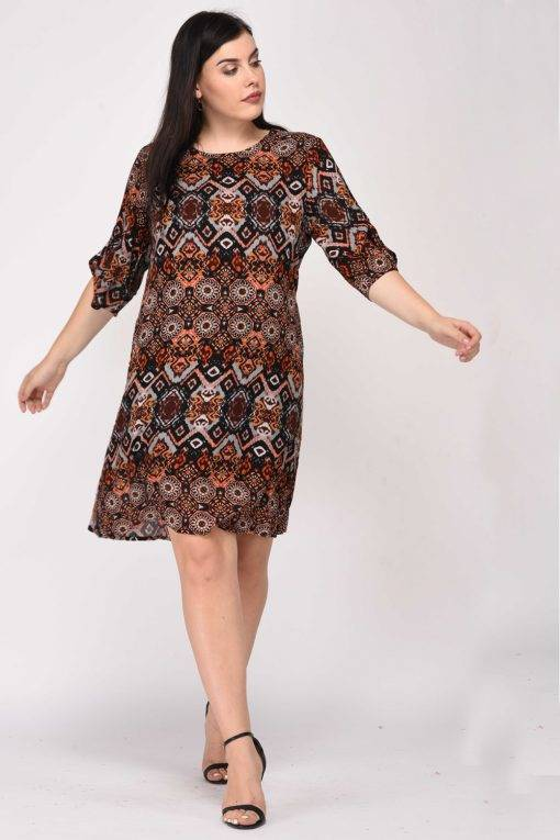Printed Shift Dress10