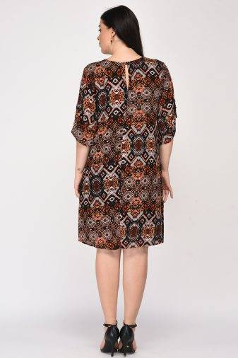 Printed Shift Dress2