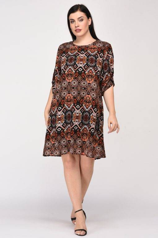 Printed Shift Dress3