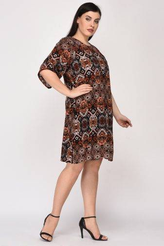 Printed Shift Dress5