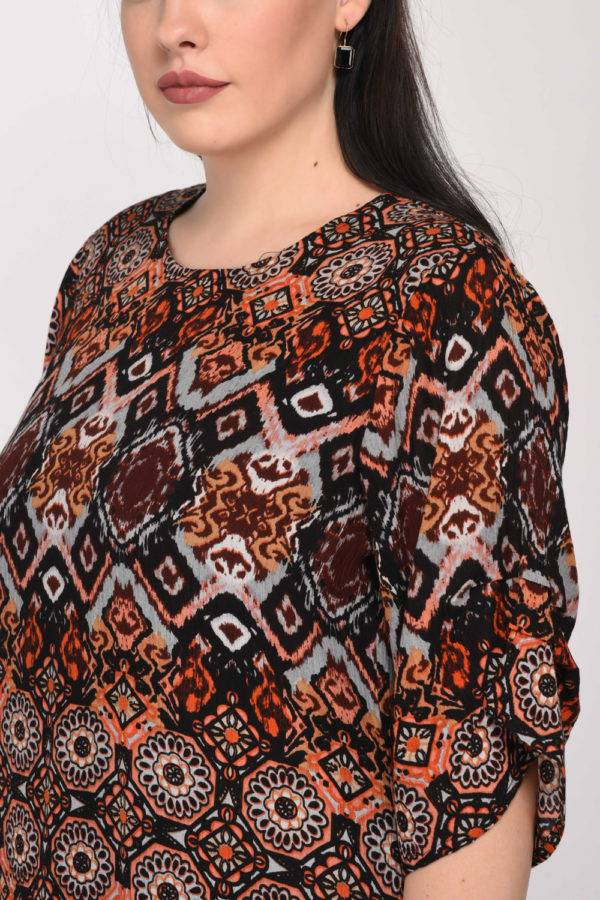 Printed Shift Dress8