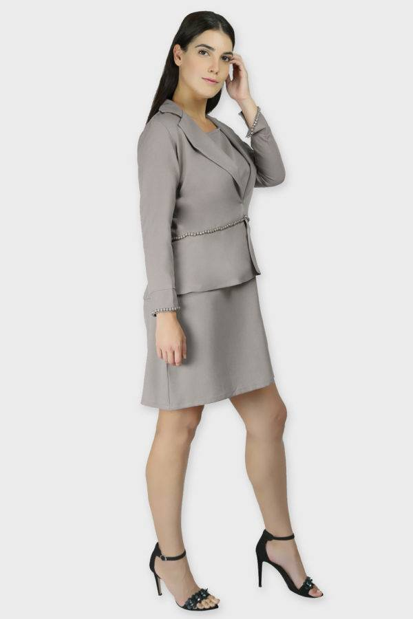 Grey Dress & Blazer Co-Ord10