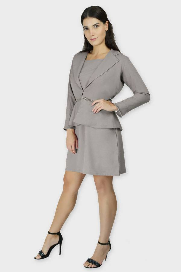 Grey Dress & Blazer Co-Ord9