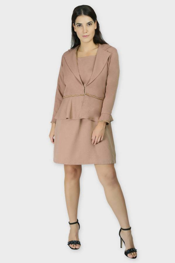 Beige Dress & Blazer Co-Ord8