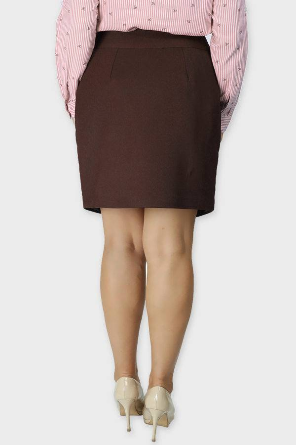 Brown Formal Skirt1