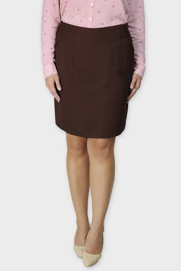 Brown Formal Skirt3