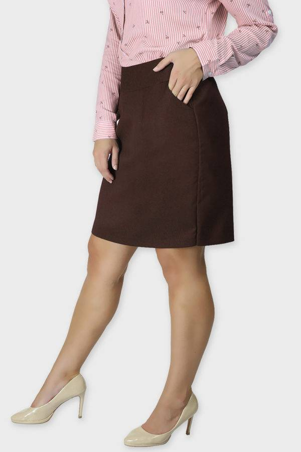 Brown Formal Skirt4