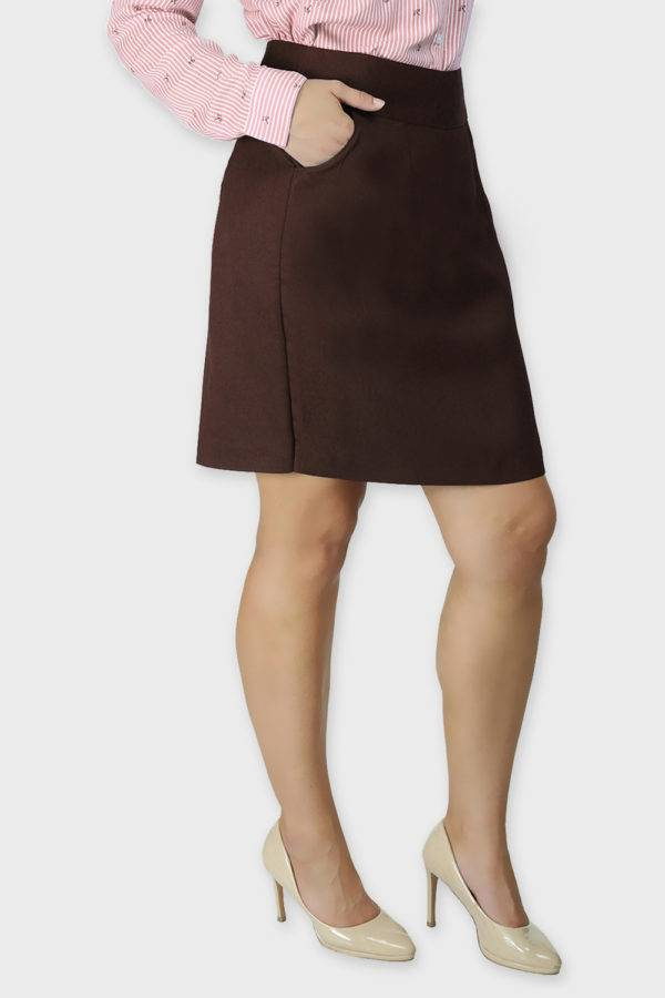 Brown Formal Skirt5