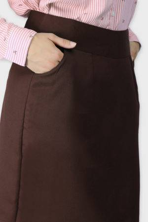 Brown Formal Skirt6