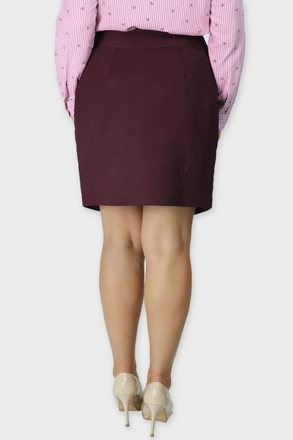 Wine Formal Skirt1