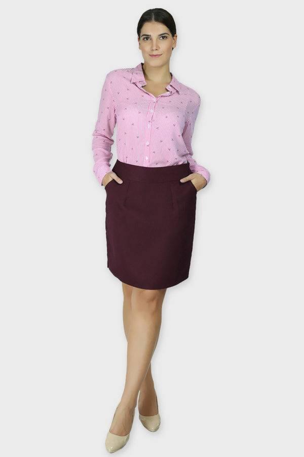 Wine Formal Skirt2