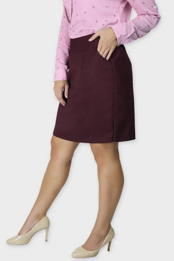 Wine Formal Skirt4
