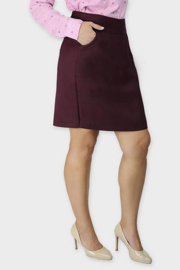Wine Formal Skirt5
