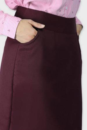 Wine Formal Skirt6