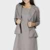 Grey Dress & Blazer Co-Ord