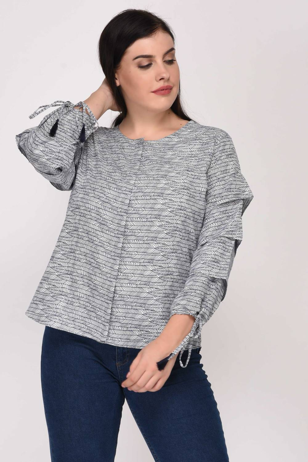 PLEATED PRINTED BLOUSE11