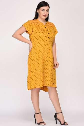 Mustard Cutwork Freestyle Dress9