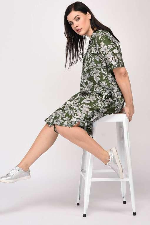 Floral Shirt Dress10