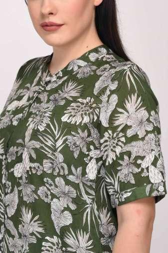 Floral Shirt Dress11