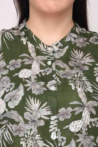 Floral Shirt Dress12