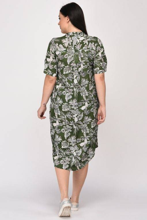 Floral Shirt Dress3