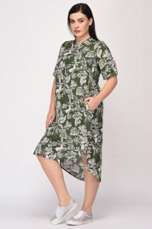 Floral Shirt Dress6