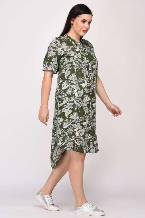Floral Shirt Dress7