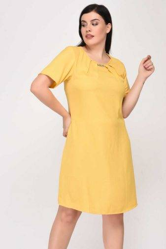 Yellow A-line Dress1