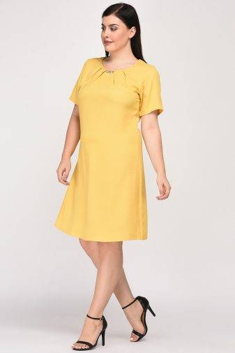 Yellow A-line Dress10
