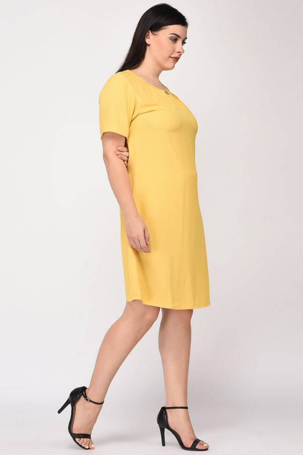 Yellow A-line Dress12