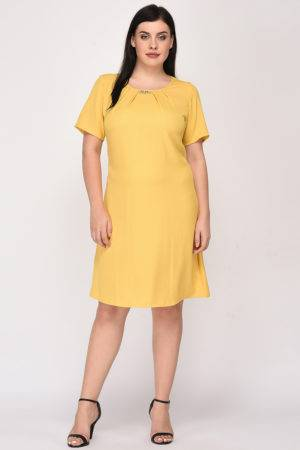 Yellow A-line Dress8