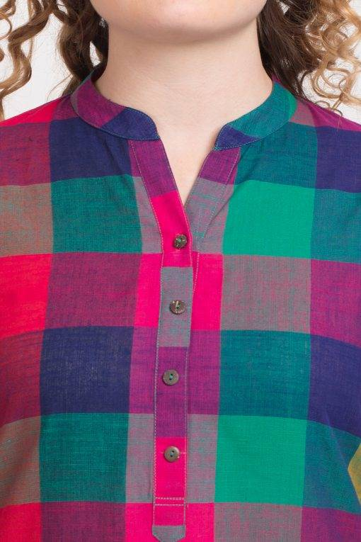 MULTICOLOR CHECKS LONG KURTA 1