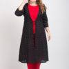 Short Kurti With Long Jacket And Palazzo Set Red 2