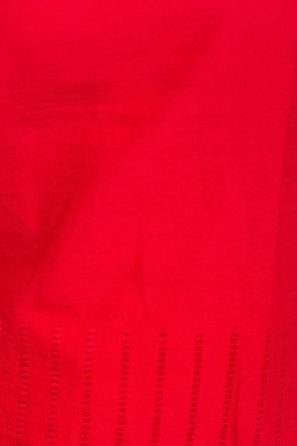 Short Kurti With Long Jacket And Palazzo Set Red 1