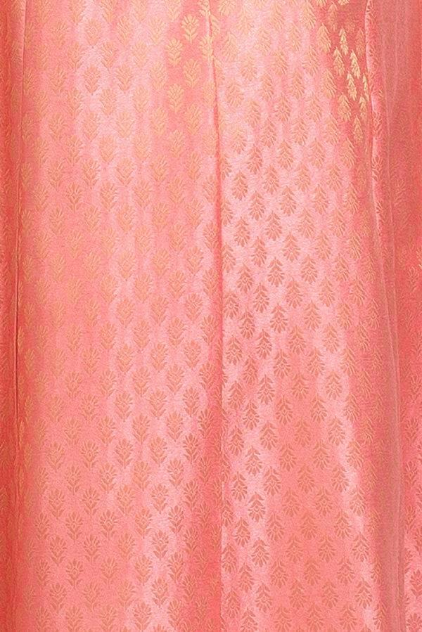 Brocade Anarkali Pink 3