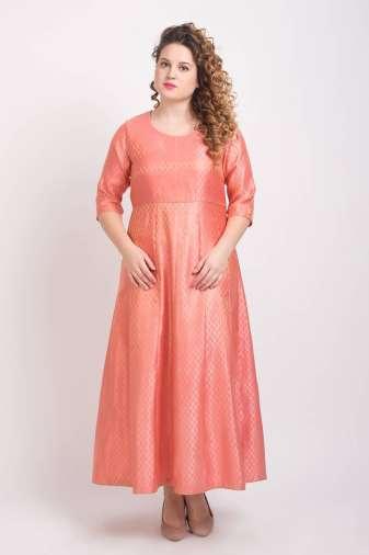 Brocade Anarkali Pink 4