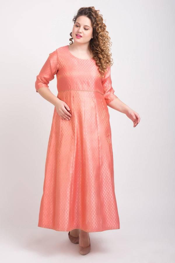Brocade Anarkali Pink 5
