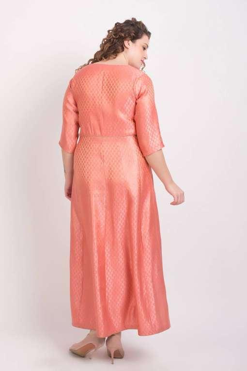 Brocade Anarkali Pink 7
