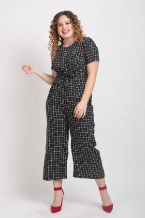 Black And White Check Jumpsuit2