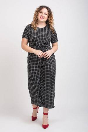 Black And White Check Jumpsuit3