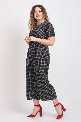 Black And White Check Jumpsuit4
