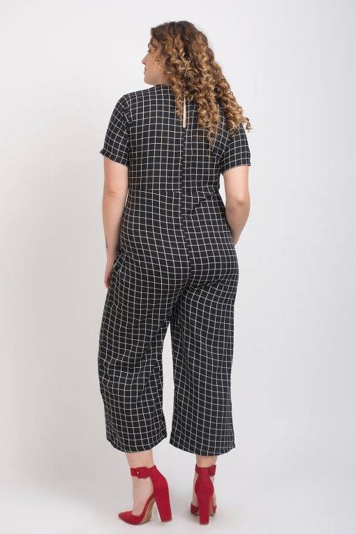 Black And White Check Jumpsuit6