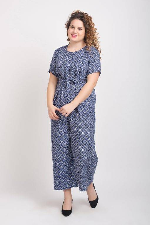 Blue Printed Jumpsuit2