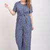Blue Printed Jumpsuit3