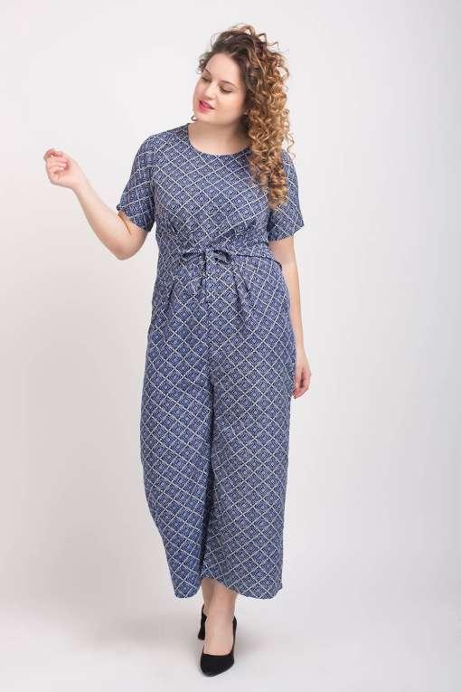Blue Printed Jumpsuit3