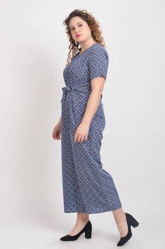 Blue Printed Jumpsuit4