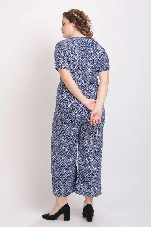 Blue Printed Jumpsuit6