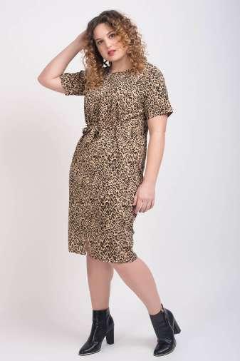 Leopard Print Dress2