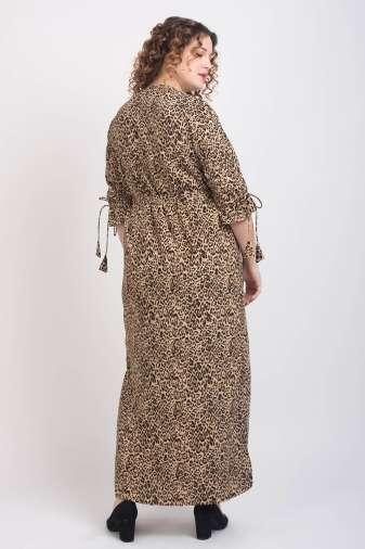 Leopard Print Maxi Dress1