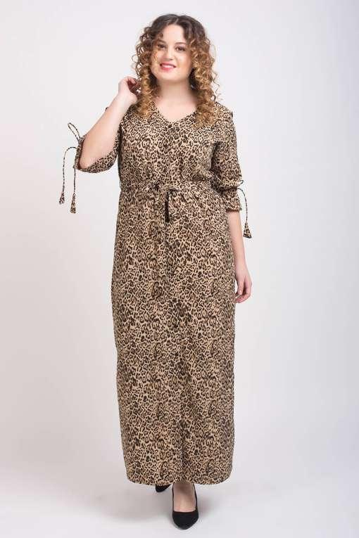 Leopard Print Maxi Dress3
